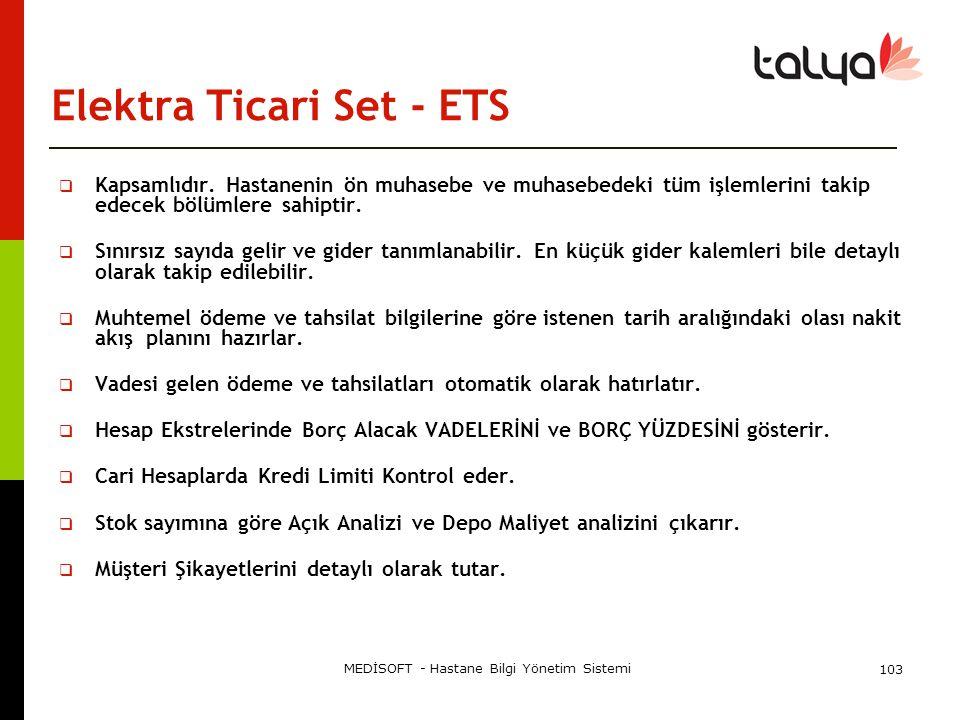 Elektra Ticari Set - ETS