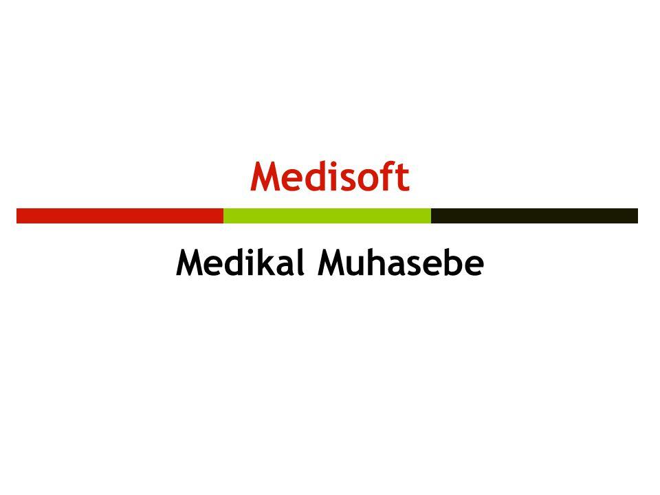 Medisoft Medikal Muhasebe