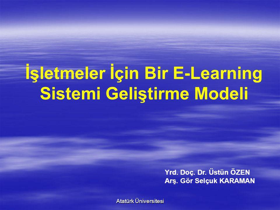 İşletmeler İçin Bir E-Learning Sistemi Geliştirme Modeli