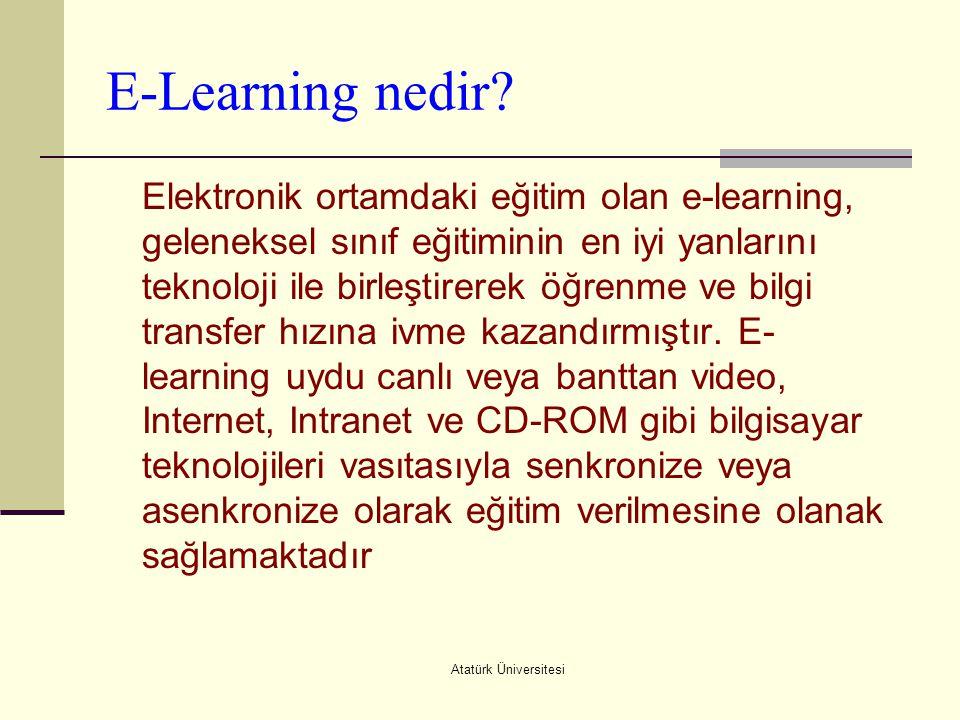 E-Learning nedir