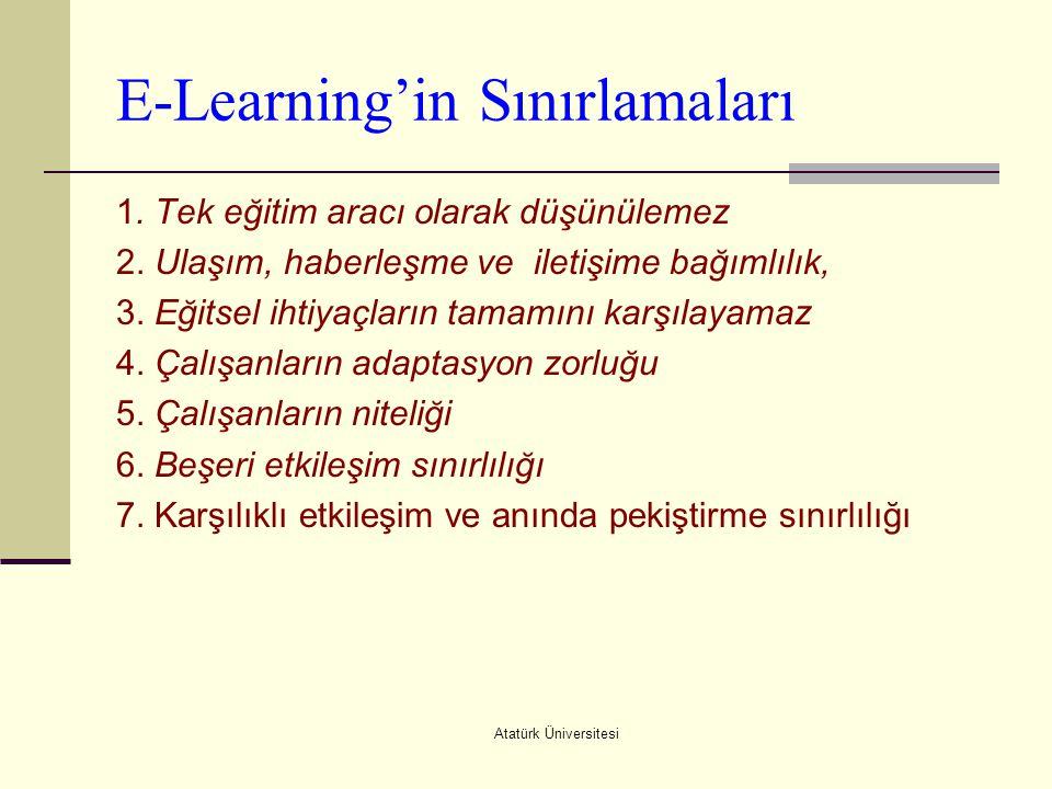 E-Learning'in Sınırlamaları