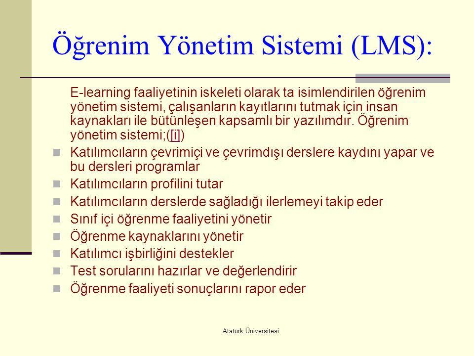 Öğrenim Yönetim Sistemi (LMS):