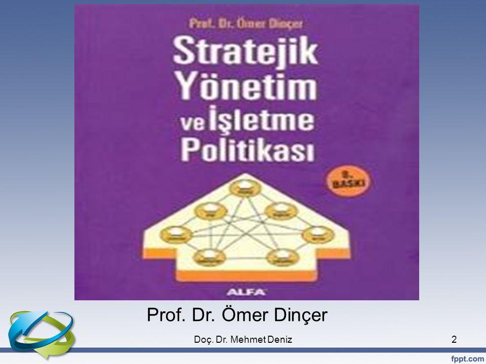 Prof. Dr. Ömer Dinçer Doç. Dr. Mehmet Deniz