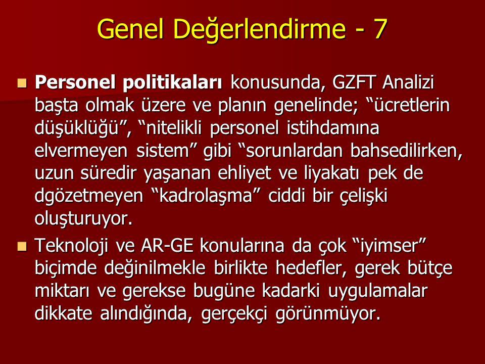 Genel Değerlendirme - 7