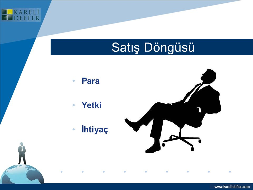 Company LOGO Satış Döngüsü Para Yetki İhtiyaç www.karelidefter.com