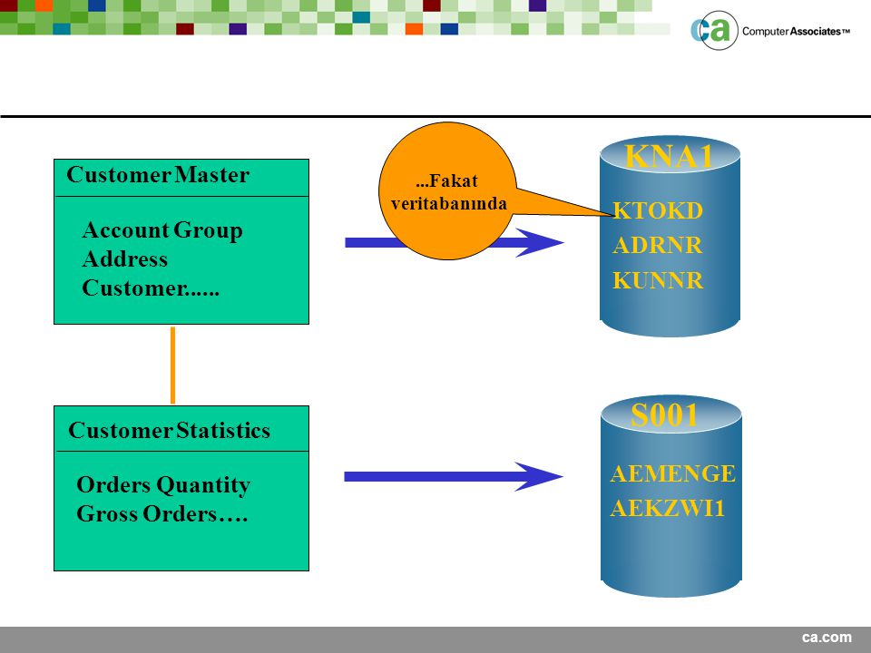 KNA1 S001 Customer Master KTOKD ADRNR Account Group Address KUNNR