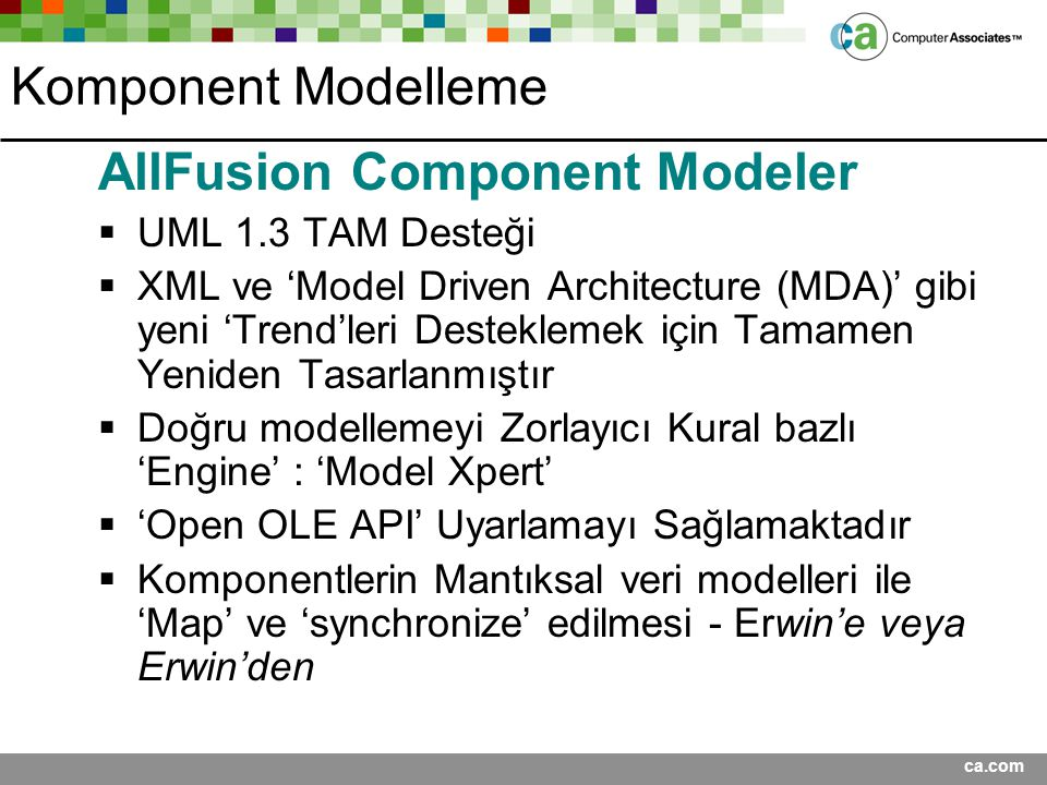 AllFusion Component Modeler