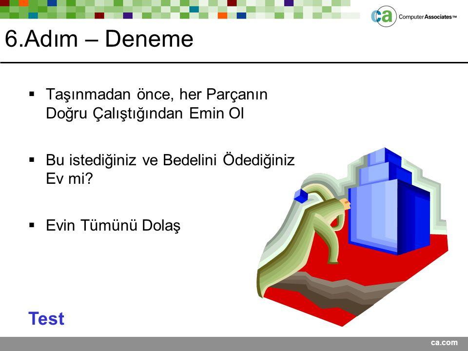 Presentation Title <Date> 6.Adım – Deneme. Taşınmadan önce, her Parçanın Doğru Çalıştığından Emin Ol.
