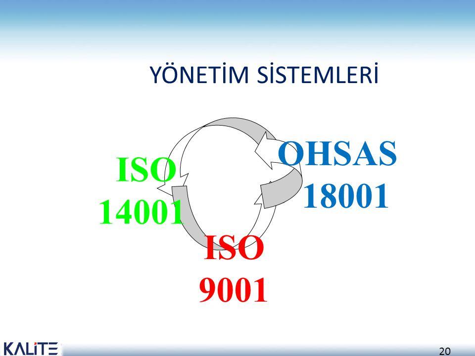 YÖNETİM SİSTEMLERİ OHSAS 18001 ISO 14001 ISO 9001