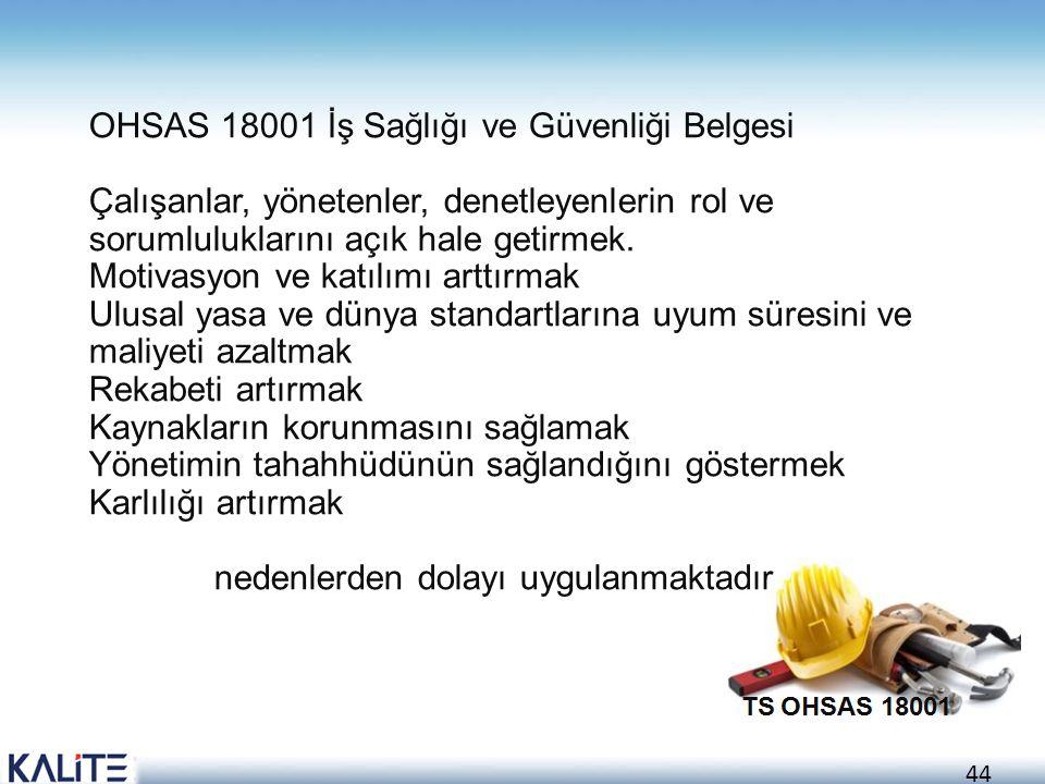 OHSAS 18001 İş Sağlığı ve Güvenliği Belgesi