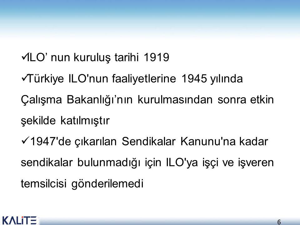 ILO' nun kuruluş tarihi 1919