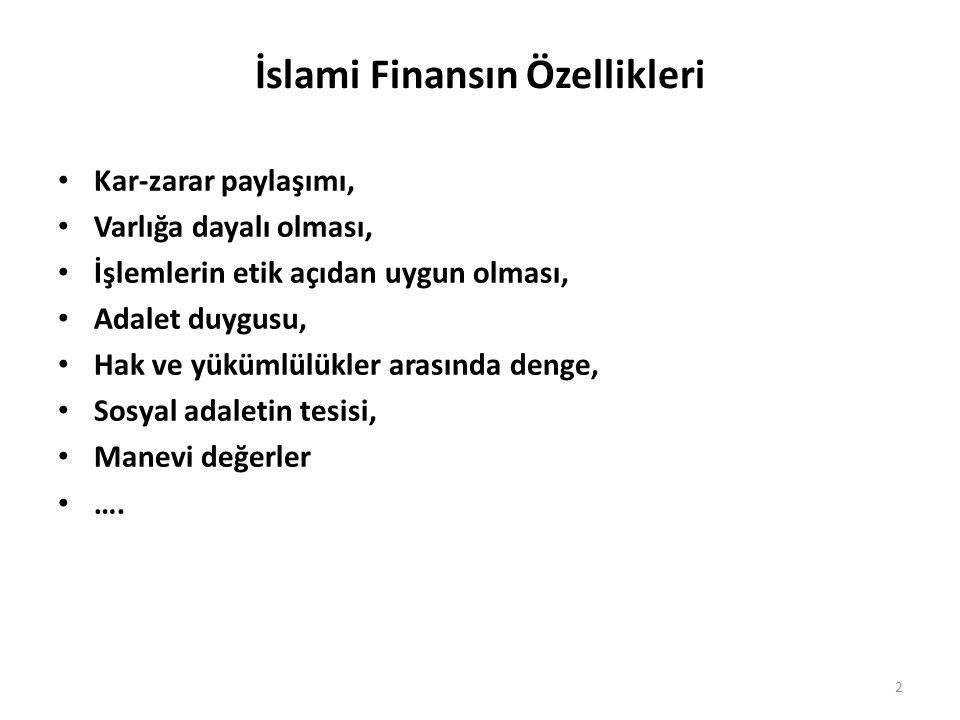 İslami Finansın Özellikleri