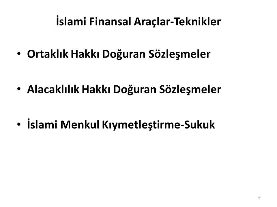 İslami Finansal Araçlar-Teknikler