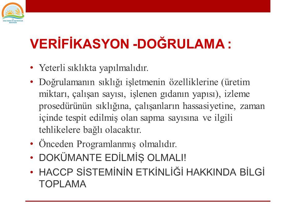 VERİFİKASYON -DOĞRULAMA :