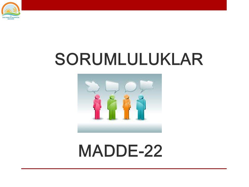 SORUMLULUKLAR MADDE-22