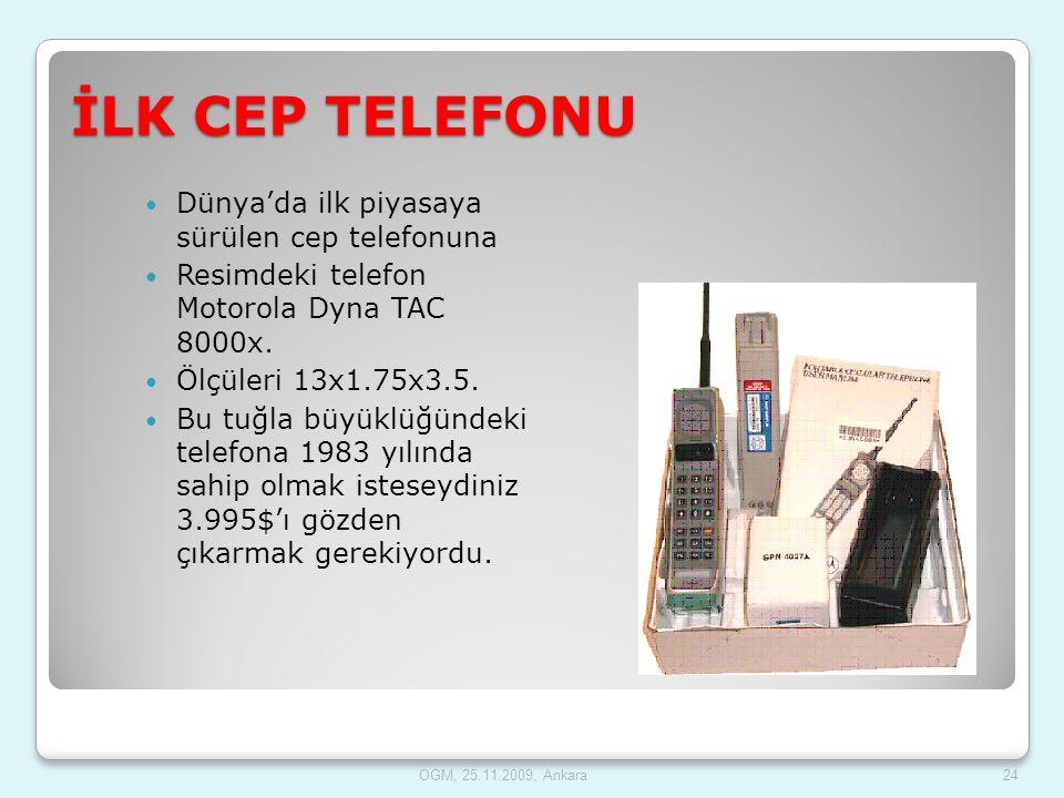 İLK CEP TELEFONU Dünya'da ilk piyasaya sürülen cep telefonuna