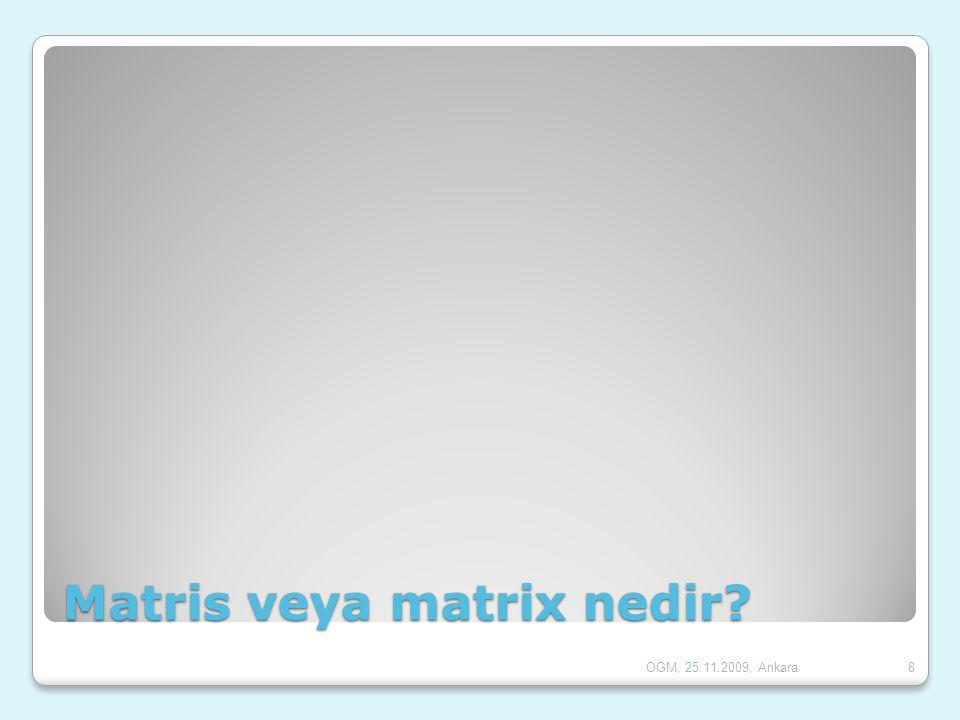 Matris veya matrix nedir