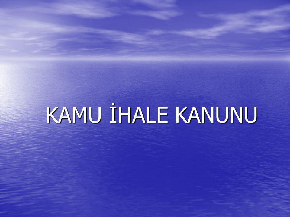 KAMU İHALE KANUNU