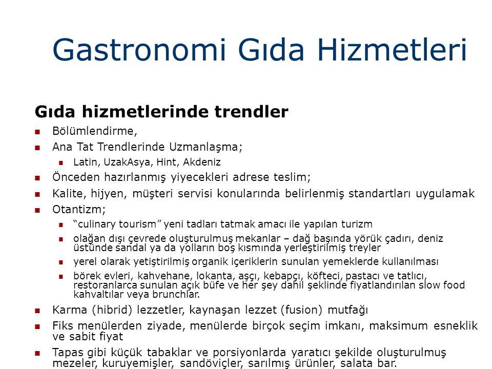 Gastronomi Gıda Hizmetleri