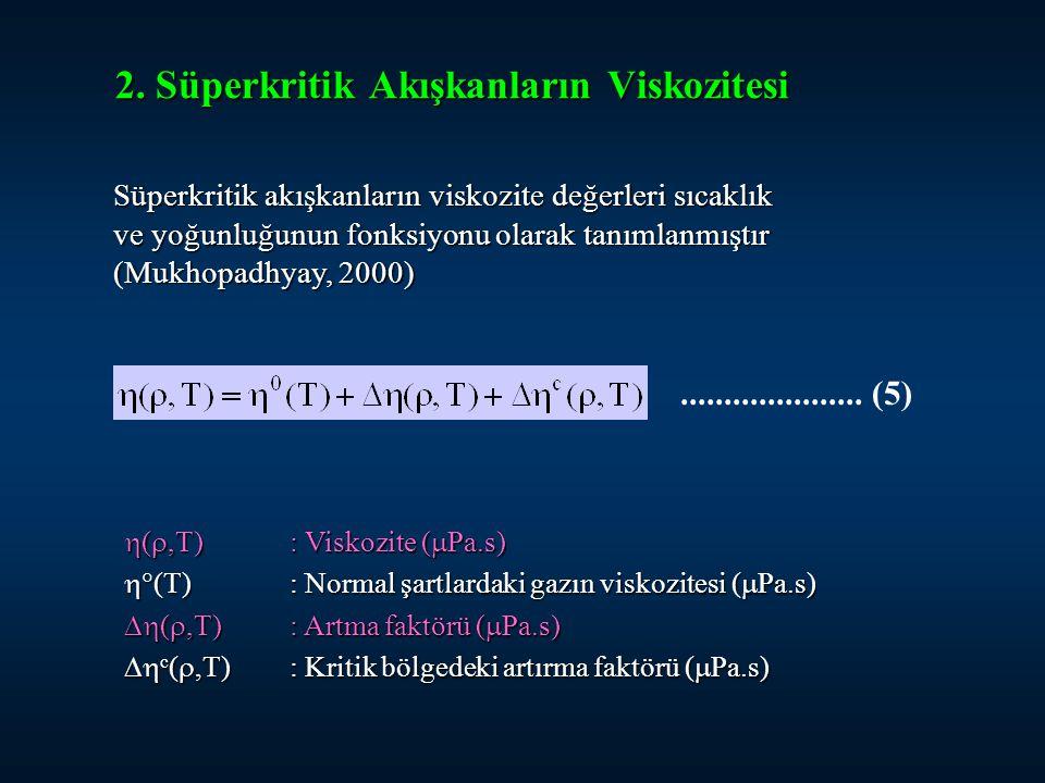2. Süperkritik Akışkanların Viskozitesi