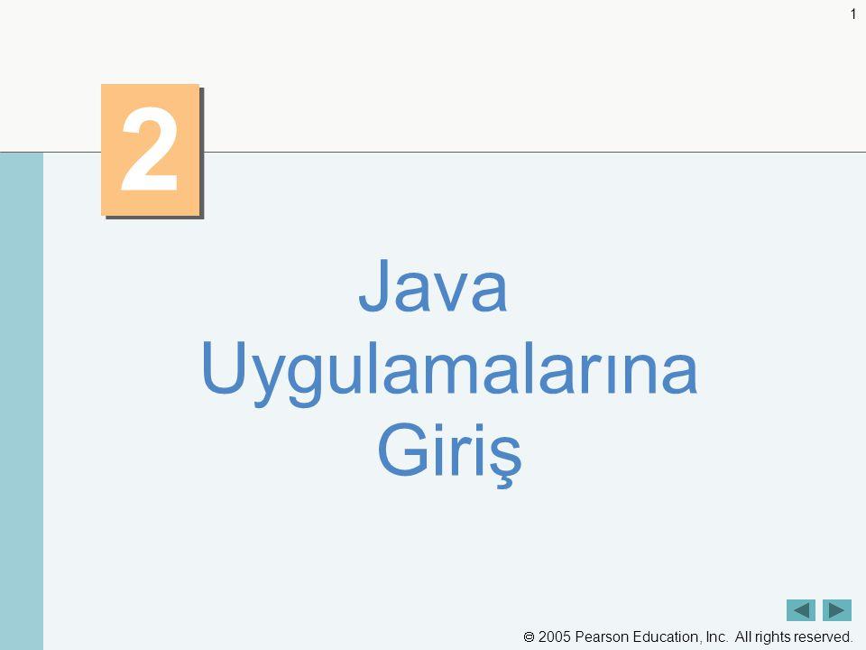 Java Uygulamalarına Giriş