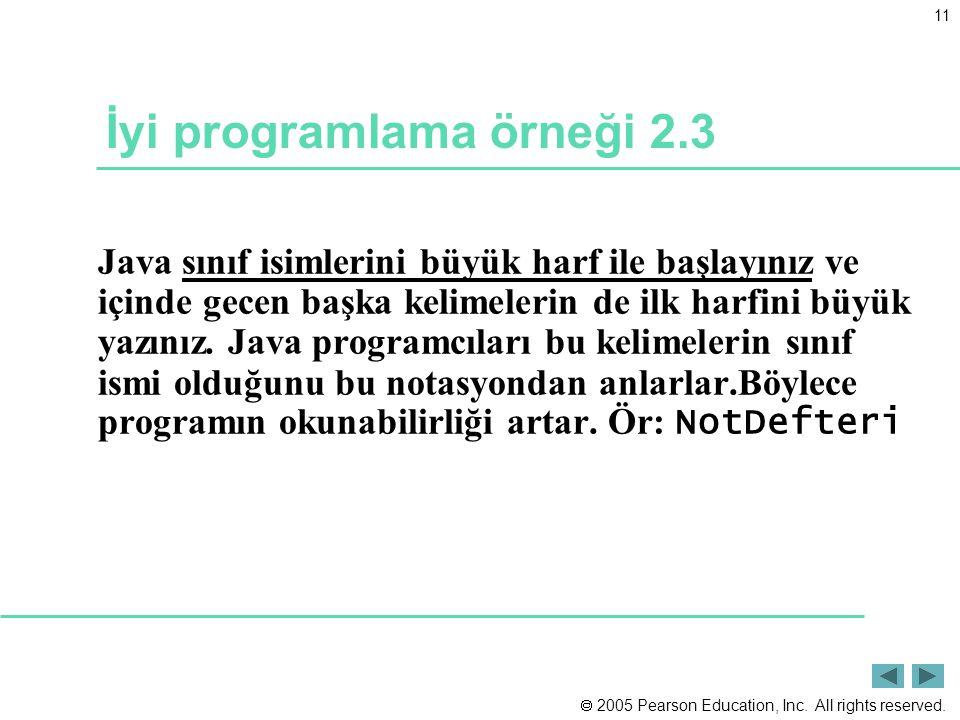 İyi programlama örneği 2.3