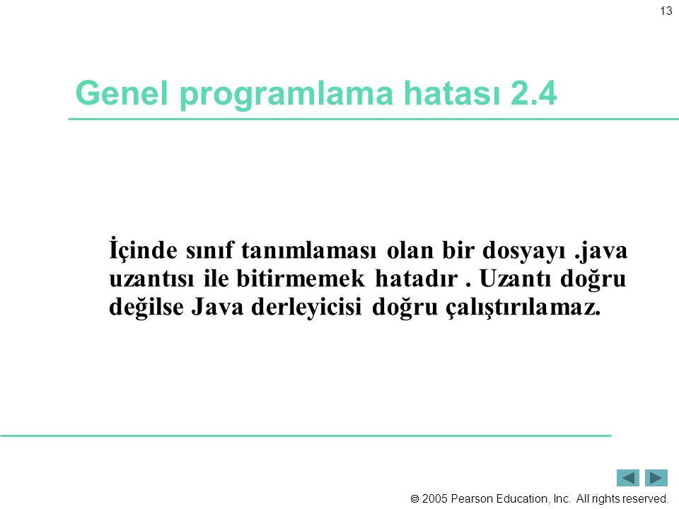 Genel programlama hatası 2.4