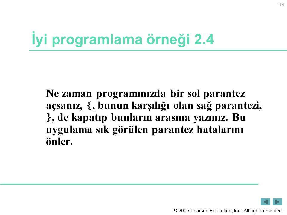 İyi programlama örneği 2.4