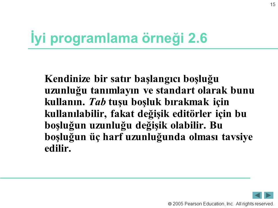 İyi programlama örneği 2.6