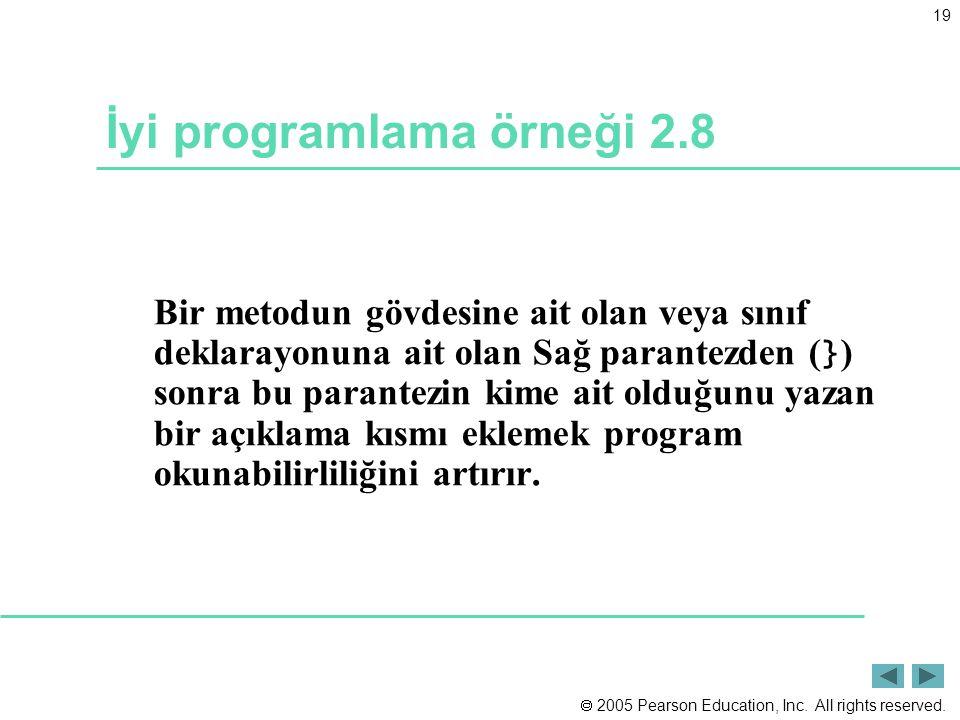 İyi programlama örneği 2.8