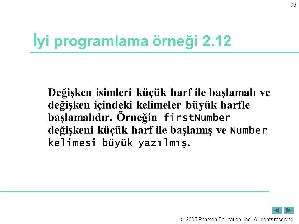 İyi programlama örneği 2.12