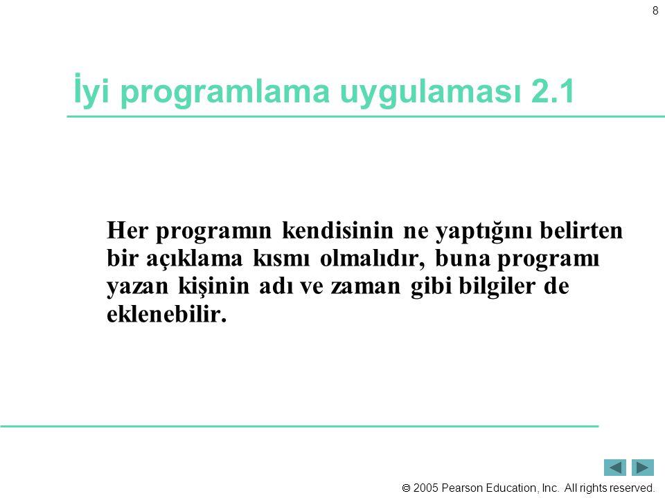 İyi programlama uygulaması 2.1