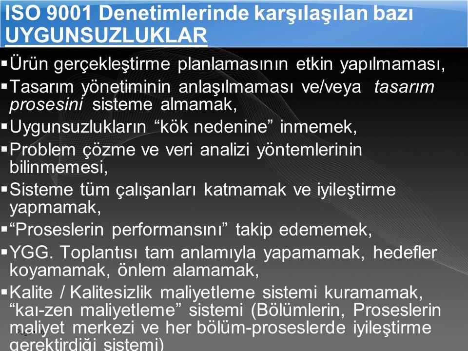 ISO 9001 Denetimlerinde karşılaşılan bazı UYGUNSUZLUKLAR