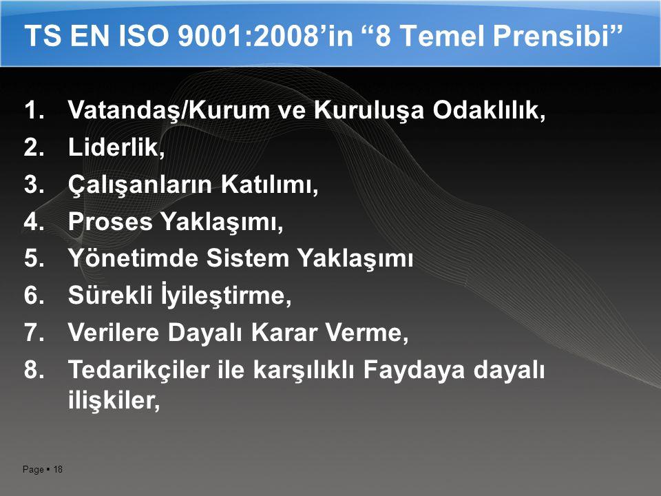 TS EN ISO 9001:2008'in 8 Temel Prensibi