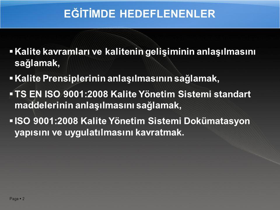EĞİTİMDE HEDEFLENENLER