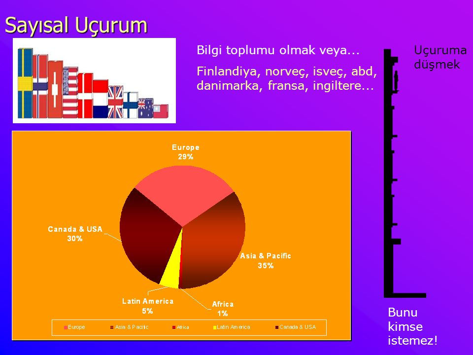 Sayısal Uçurum İnternete Bağlı Bilgisayar Sayıları (hosts)