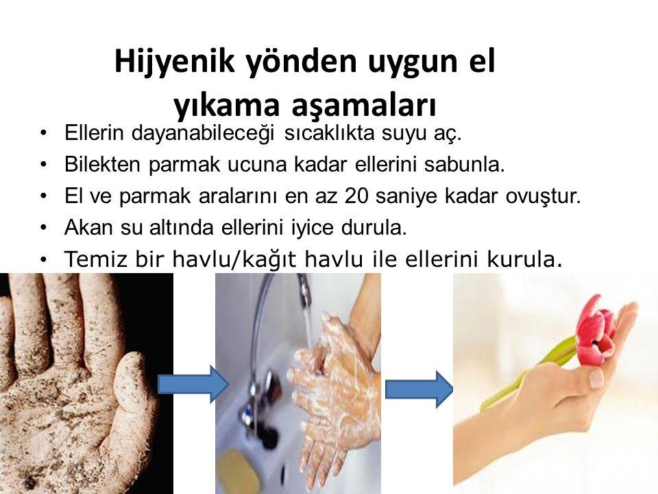 Hijyenik yönden uygun el yıkama aşamaları