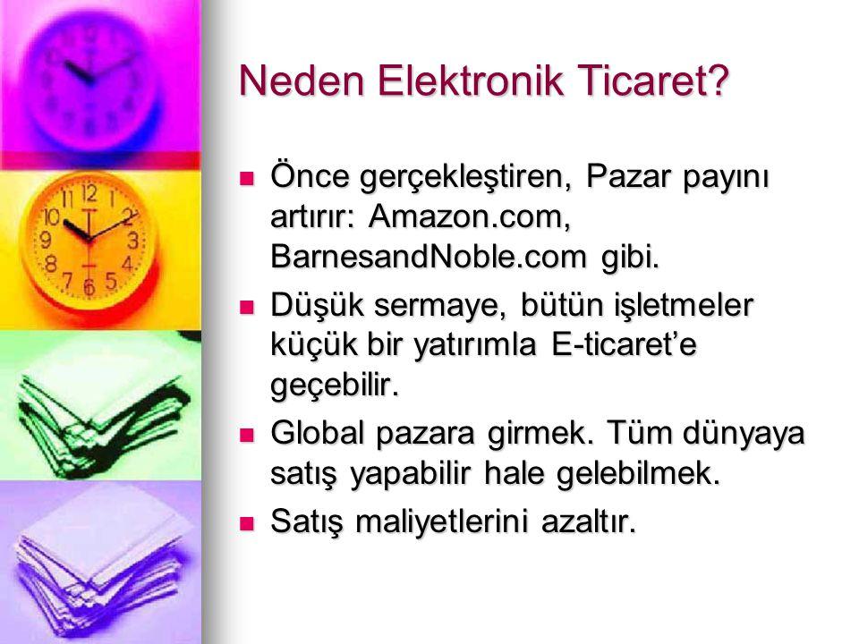 Neden Elektronik Ticaret