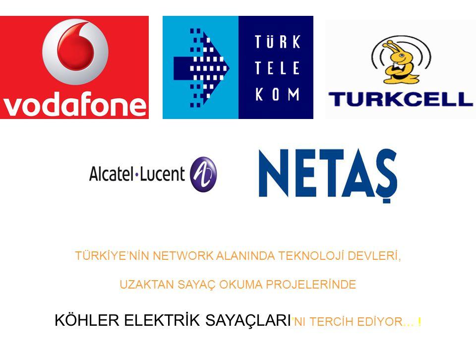 KÖHLER ELEKTRİK SAYAÇLARI'NI TERCİH EDİYOR… !