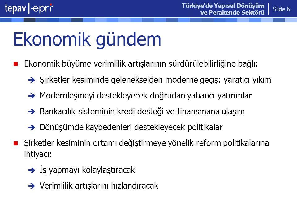 Türkiye'de Yapısal Dönüşüm ve Perakende Sektörü