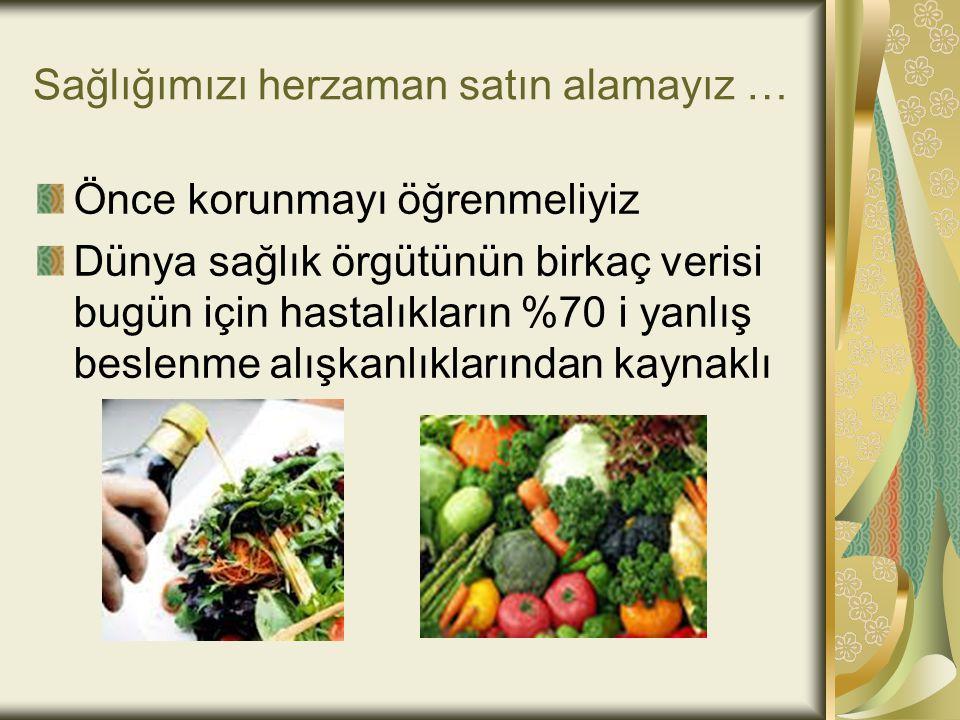 Sağlığımızı herzaman satın alamayız …