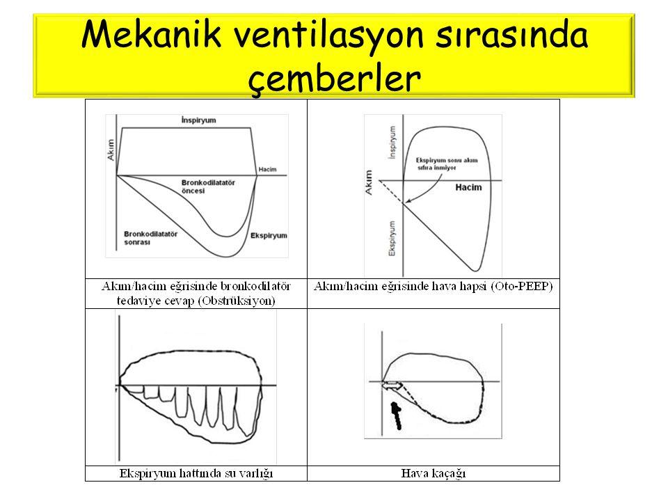 Mekanik ventilasyon sırasında çemberler