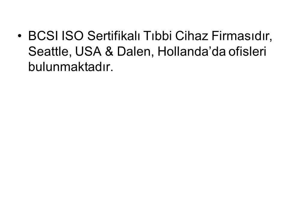 BCSI ISO Sertifikalı Tıbbi Cihaz Firmasıdır, Seattle, USA & Dalen, Hollanda'da ofisleri bulunmaktadır.