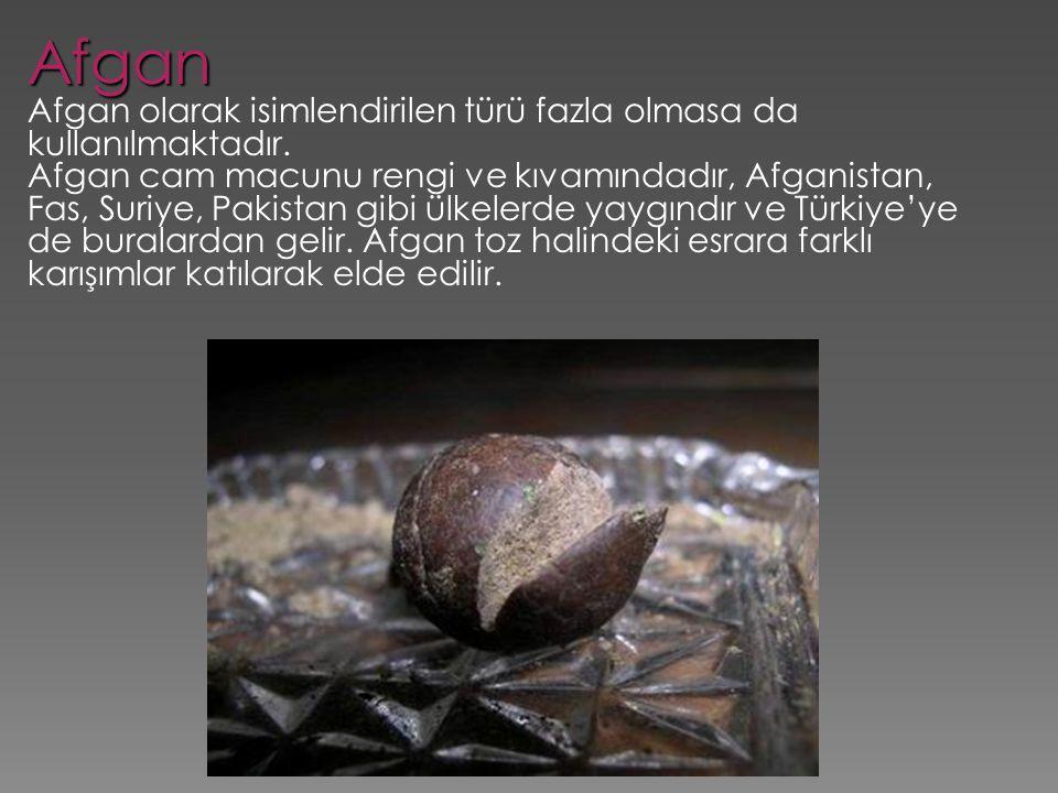 Afgan Afgan olarak isimlendirilen türü fazla olmasa da kullanılmaktadır.