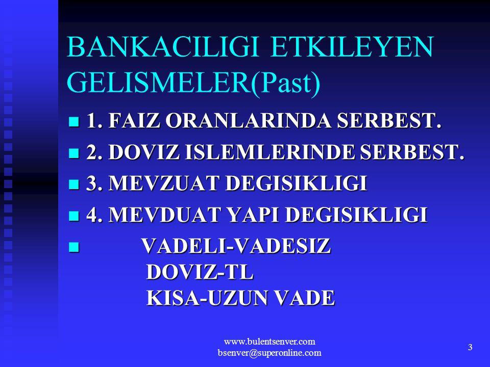 BANKACILIGI ETKILEYEN GELISMELER(Past)