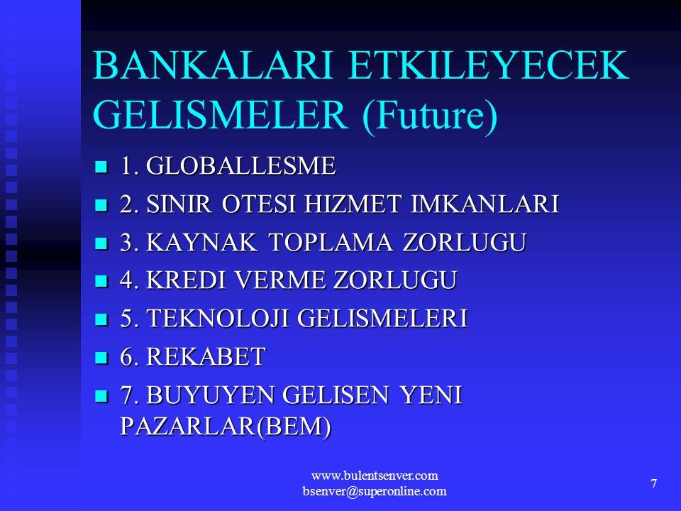 BANKALARI ETKILEYECEK GELISMELER (Future)
