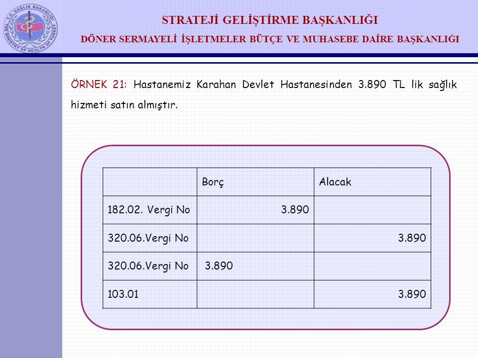 ÖRNEK 21: Hastanemiz Karahan Devlet Hastanesinden 3