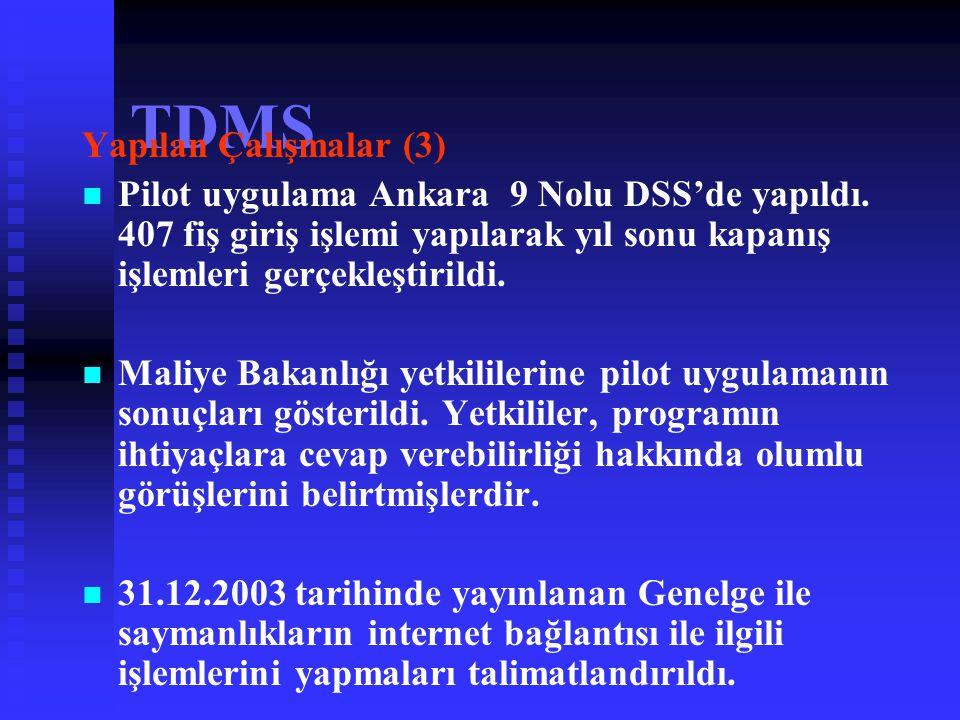 TDMS Yapılan Çalışmalar (3)