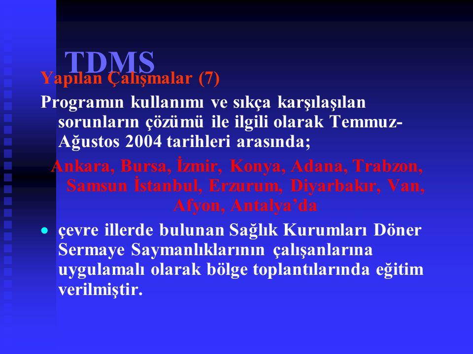 TDMS Yapılan Çalışmalar (7)