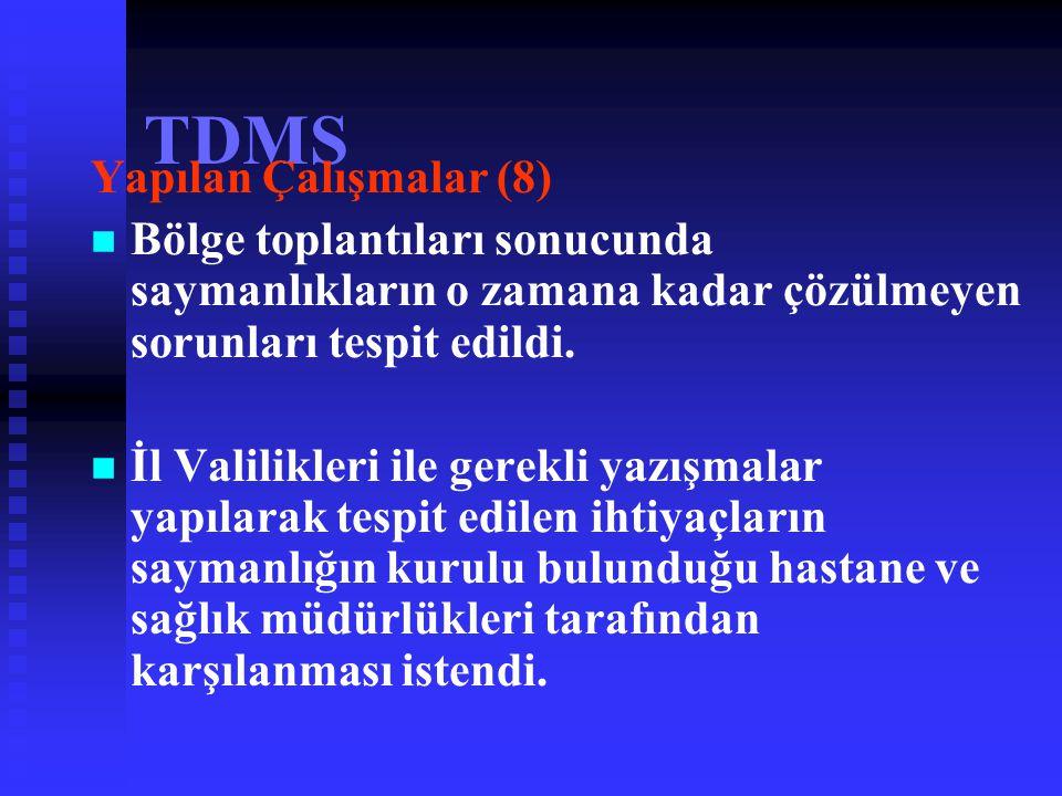 TDMS Yapılan Çalışmalar (8)